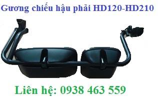 Gương chiếu hậu hd120 và hd210 giò rút
