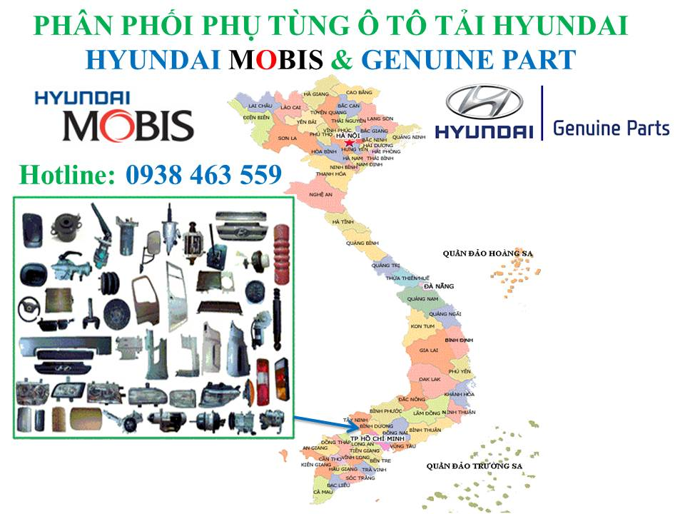Phân phối phụ tùng ô tô hyundai toàn quốc